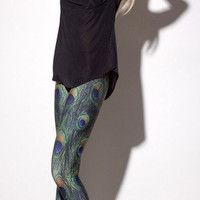 Peacock Leggings | Black Milk Clothing