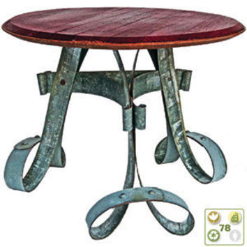 Wine Barrel End Table by Whit McLeod Furniture