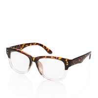 Half Tortoise Readers Brown/Clear One