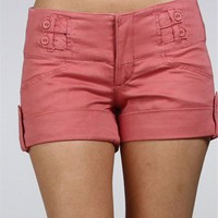 Sale-Coral Spring Cuffed Shorts