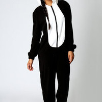 Cameron Panda Super Soft Onesuit at boohoo.com