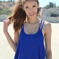 Double Lined Tank - Royal | Shop Civilized