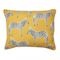 Zebra Print Reversible Pillow
