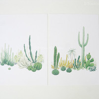 Cactus Watercolor Print Set - Any FOUR 8x11 Art Print, Home Decor