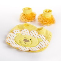 Chomp & Stomp - Lion Bib and Booties Gift Set