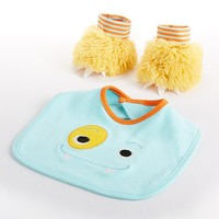 Chomp & Stomp - Baby Boy Monster Bib and Booties Gift Set