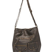 Double Pocket Hobo Bag | Wet Seal