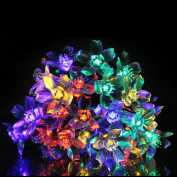 InnooTech 50 LED Solar Powered Fairy Lights String Multi color for Outside Garden,Wedding