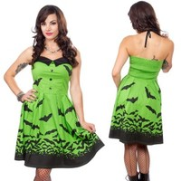 Green Spooksville Bats Dress