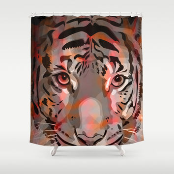 Tiger Mix #5 Shower Curtain by Ornaart