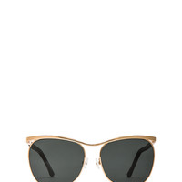 Aviator Sunglasses in Gold & Black