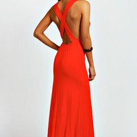 Tori Cross Strappy Back Maxi Dress
