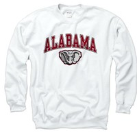 Alabama Crimson Tide Adult Midsize Logo Crewneck Sweatshirt