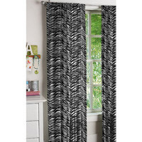 Zebra Window Panels, Set of 2