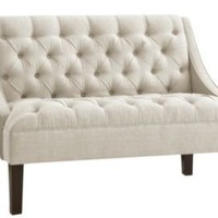 One Kings Lane - Coastal Tradition - Essex Swoop Arm Chaise, Talc