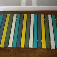 Wood Door Mat - Your Custom Color Choices