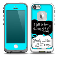 The Okay Speech Bubbles V5 LOVE Skin for the iPhone 5-5s frē LifeProof Case (other models available)