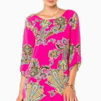DESTINA SHIFT DRESS IN FUCHSIA