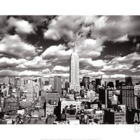 New York, New York, Sky Over Manhattan Art Print by Henri Silberman at Art.com