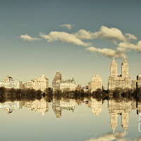 Mirrored City Giclee Print by Irene Suchocki at Art.com