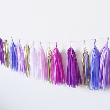 Purple Party Tassel Garland