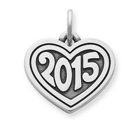 "Heart with ""2015"" Charm 