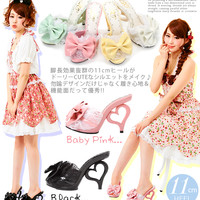 Pattern to be chosen♪11cm high heel bowknot sandal