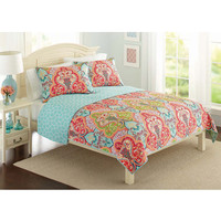Walmart: Better Homes and Gardens Quilt Collection, Jeweled Damask