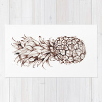 Pineapple Area & Throw Rug by Turn North Press
