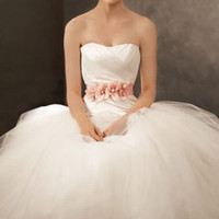 Ball Gown with Asymmetrically Draped Bodice - David's Bridal