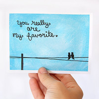 Anniversary Card You Really Are My Favorite Blue by JulieAnnArt