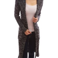 Patty Women's Hooded Long Sleeve Knit Open Cardigan