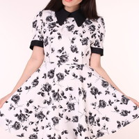Glitters For Dinner — MADE TO ORDER - Black Floral Alice Dress