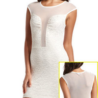 Charlotte Russe - Lurex Lace Body-Con Dress