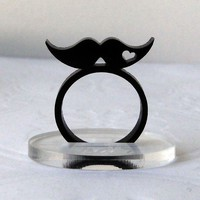 Mustache Love Ring by Isette on Etsy