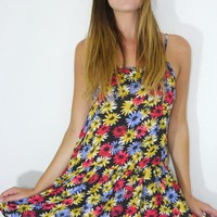Floral Low Waist Day Dress