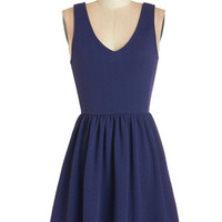 ModCloth Americana Mid-length Sleeveless A-line Storytelling it Like it is Dress