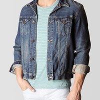 DANNY TRUCKER LIGHTWEIGHT LOOMSTATE MENS DENIM JACKET