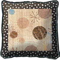 Fine Art Tapestries Mondo Dotz I Pillow - 3040-P - Pillows, Blankets & Slipcovers - Decor