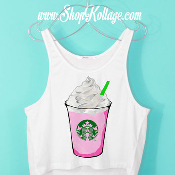 Cotton Candy Frap Crop Tank Top