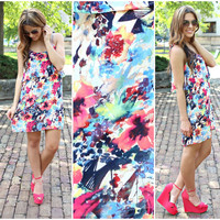 Life in Watercolor Dress