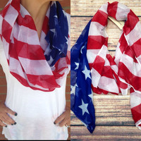 SWEET LAND OF LIBERTY SCARF – LaRue Chic Boutique