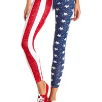 AMERICAN FLAG PRINT LEGGINGS