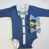 Baby Boy Cardigan Onesuit and Bow Tie,Cardigan Onesuit, Cardigan Onesuit, Newborn Cardigan Onesuit, Baby Boy Cardigan Onesuit, Bow Tie Onesuit