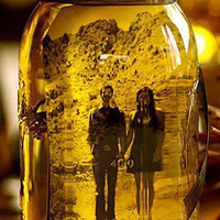 picture frame mason jar: fill mason jar with olive oil and insert picture.