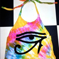 SWEET LORD O'MIGHTY! TIEDYE EYE OF HORUS HALTER