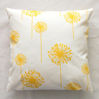 Premier Prints Yellow Dandelion Pillow Cover 16x16 by Modernality2