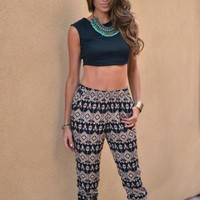 Tribal Print Trouser Pants