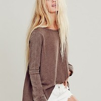 Free People Womens Low Back Shirred Pullover -