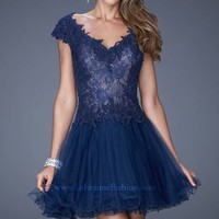 Embellished Cokctail Dress by La Femme